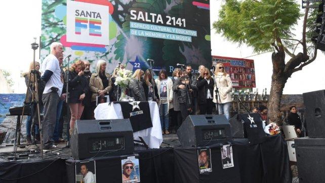 En el acto recordaron a las víctimas y pidieron justicia (gentileza La Capital)