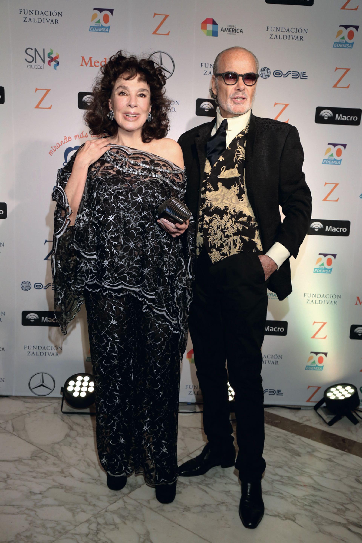 Graciela Borges con su amigo Gino Bogani.