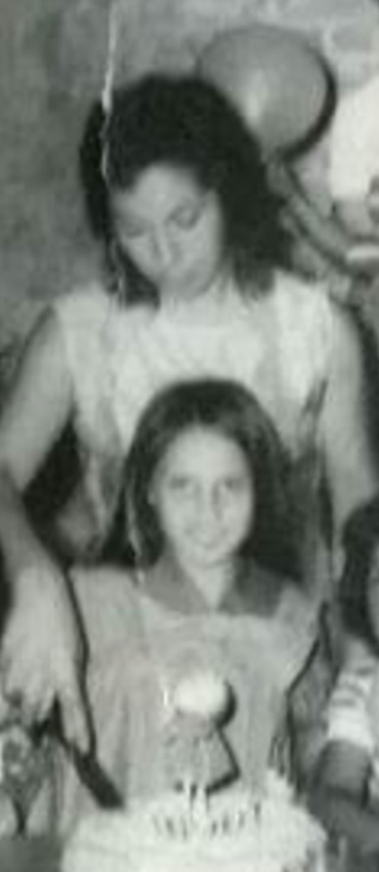 Marcela Quiroga y su madre