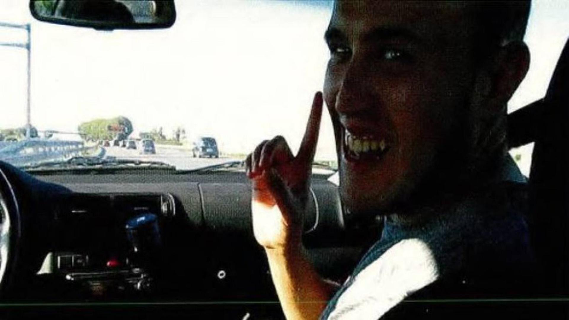 Un fotograma del video tomada en el auto el que circulaban tres terroristas