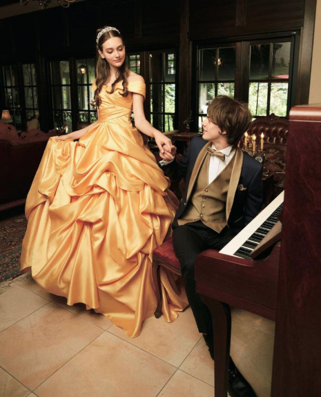Vestido de novia inspirado en el traje de Bella (Disney Japan/Kuraudia Co)