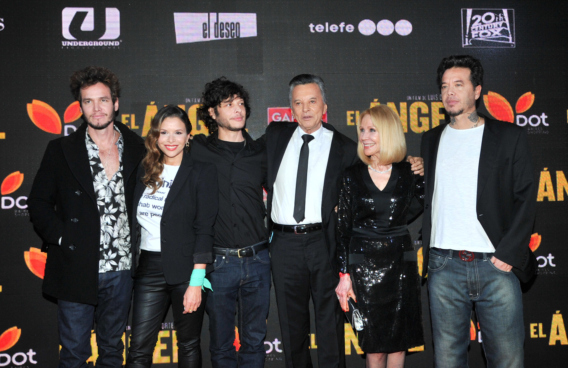 El clan Ortega presente: Emanuel, Julieta, Luis, Palito, Evangelina y Sebastián