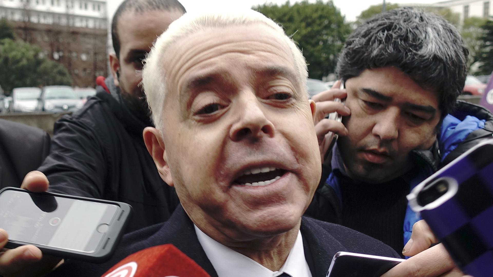 Oyarbide cuando fue citado a declarar en agosto pasado por la causa de los cuadernos(NA)