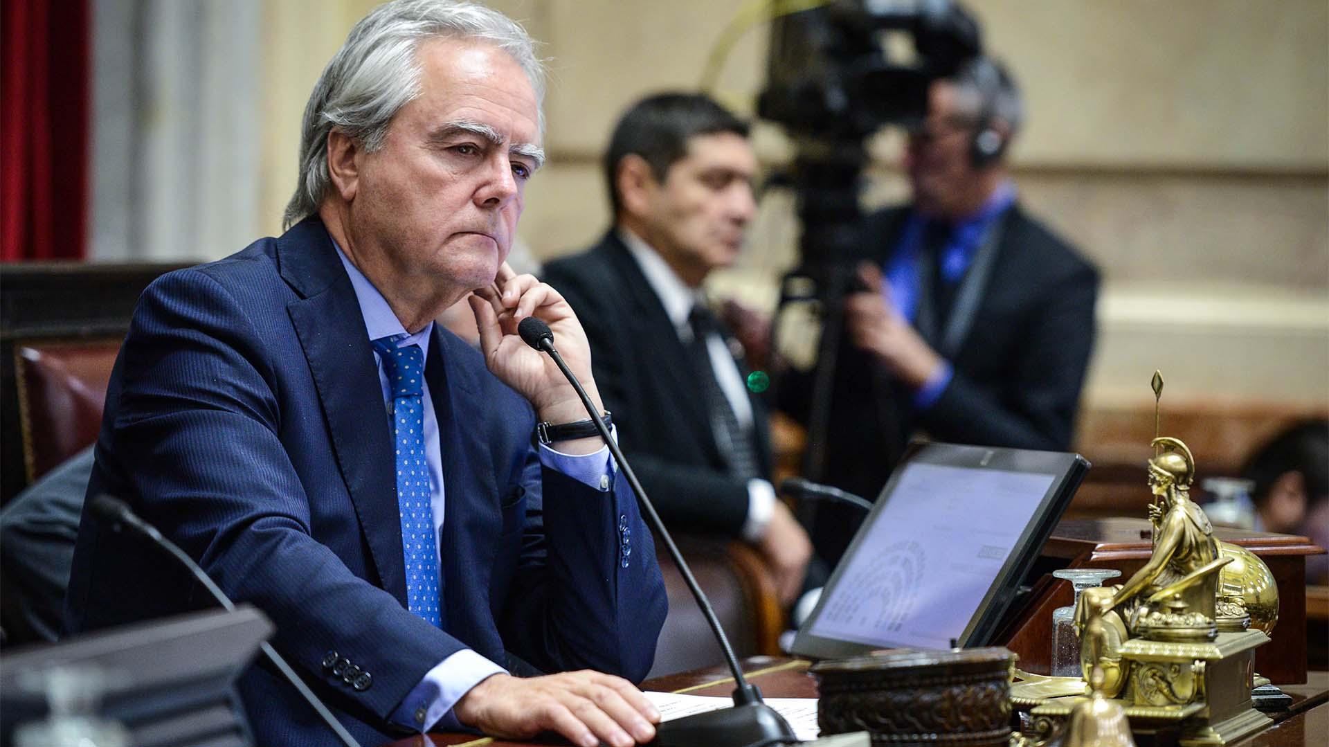 El presidente provisional del Senado, Federico Pinedo