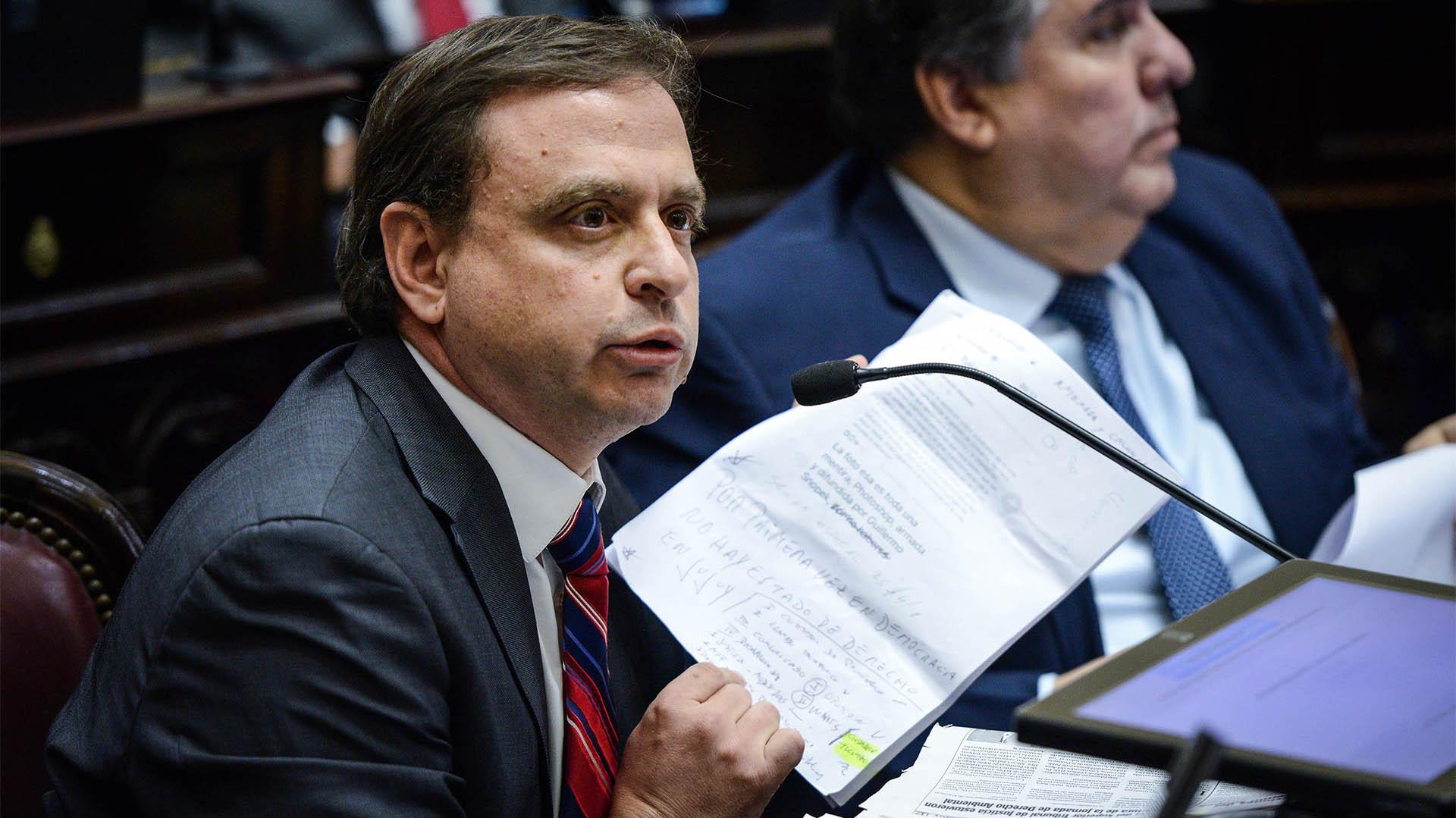 El senador peronista Guillermo Snopek