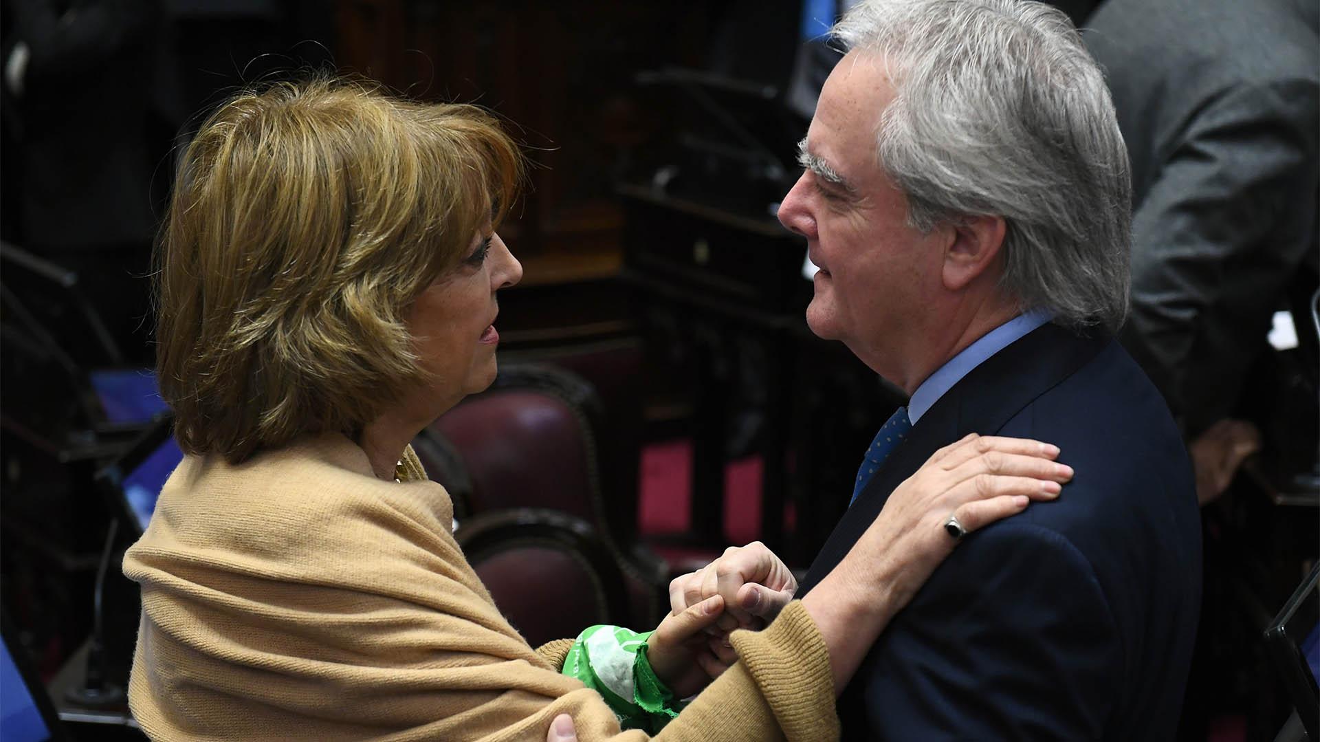 La senadora peronista Norma Durango y el senador del PRO Federico Pinedo