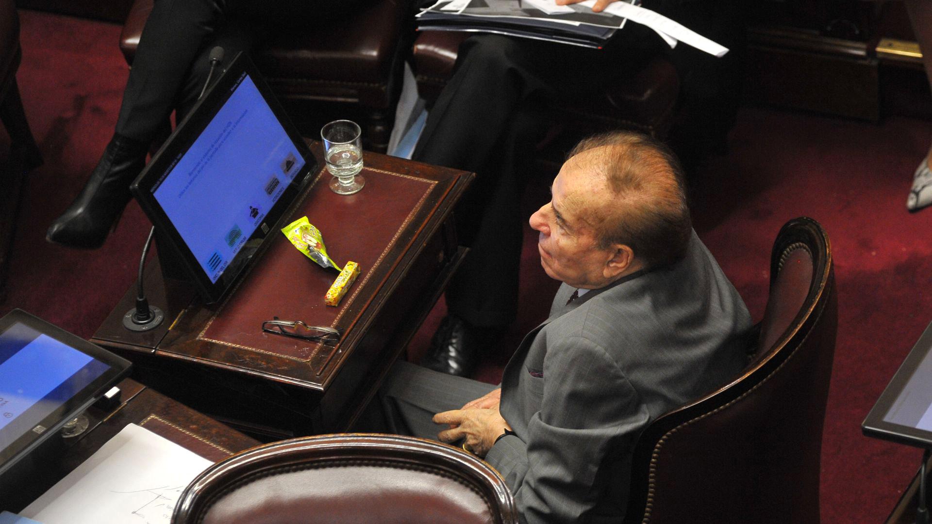 El senador nacional Carlos Menem