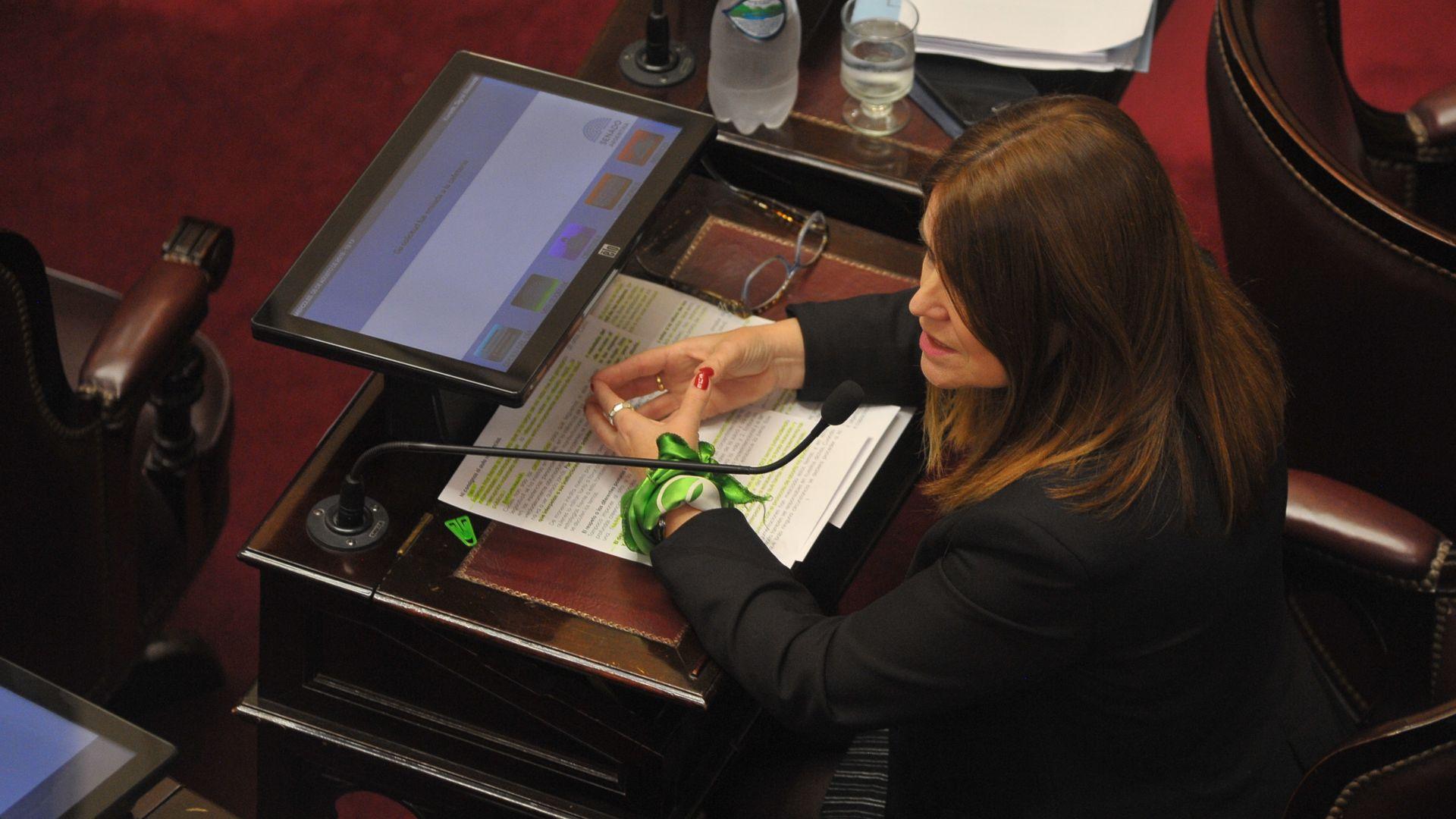 La senadora por Entre Ríos, Sigrid Kunath