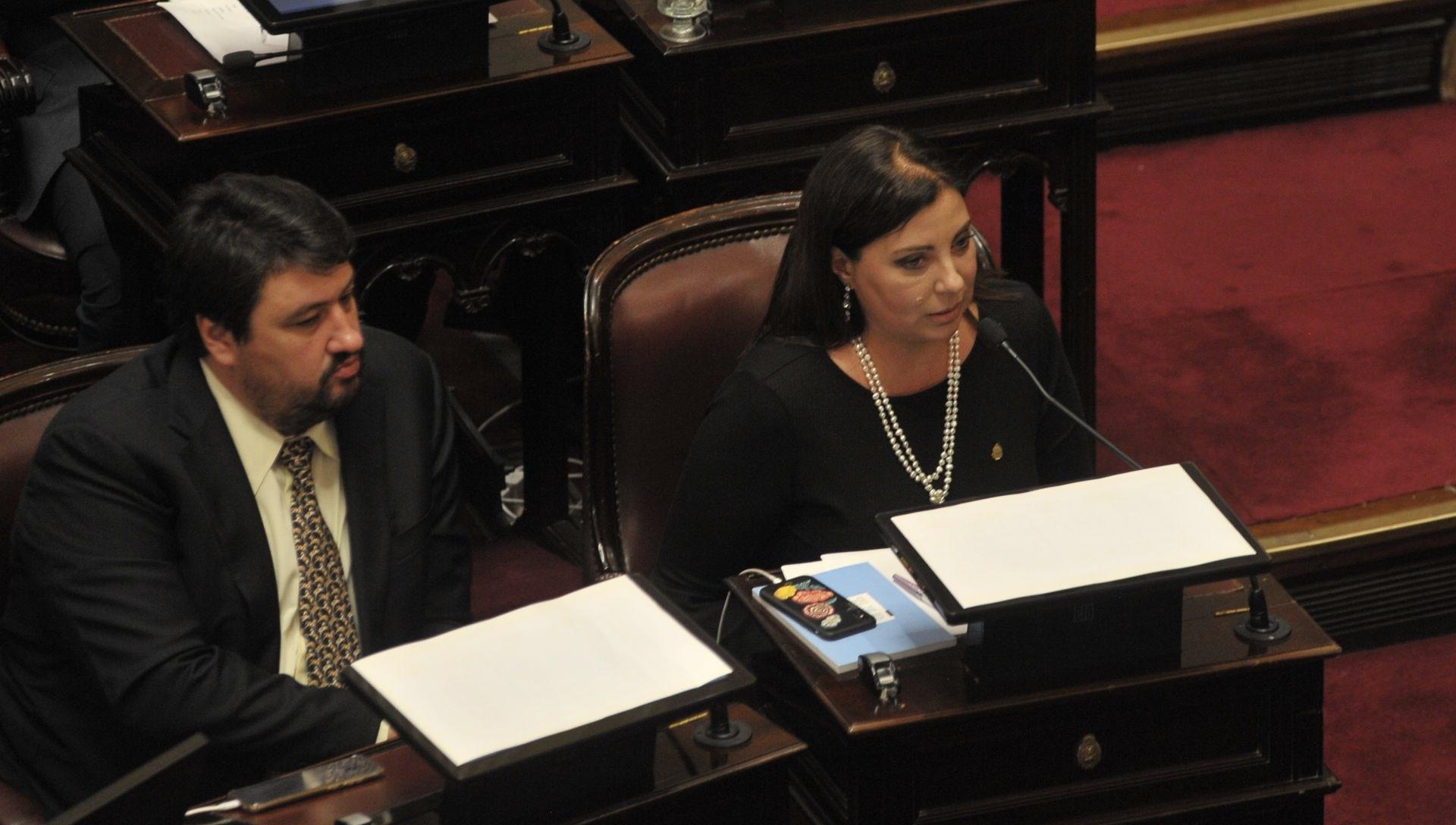 Los senadores misioneros Maurice Closs y Magdalena Solari Quintana