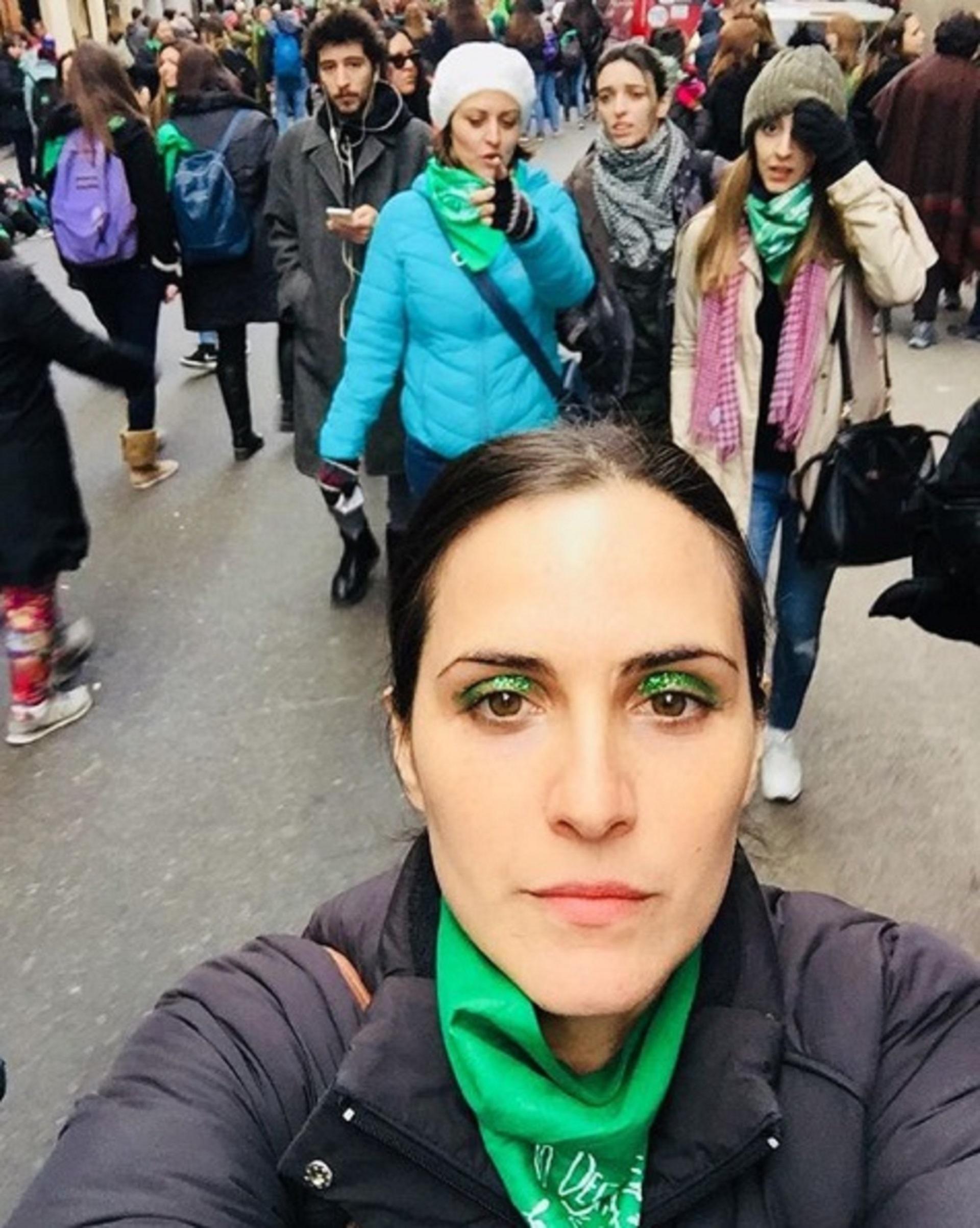 Julieta Díaz en la marcha a favor de la legalización del aborto