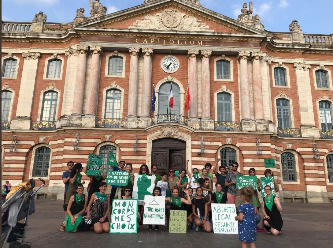 En Toulouse, Francia, a favor de la legalización del aborto