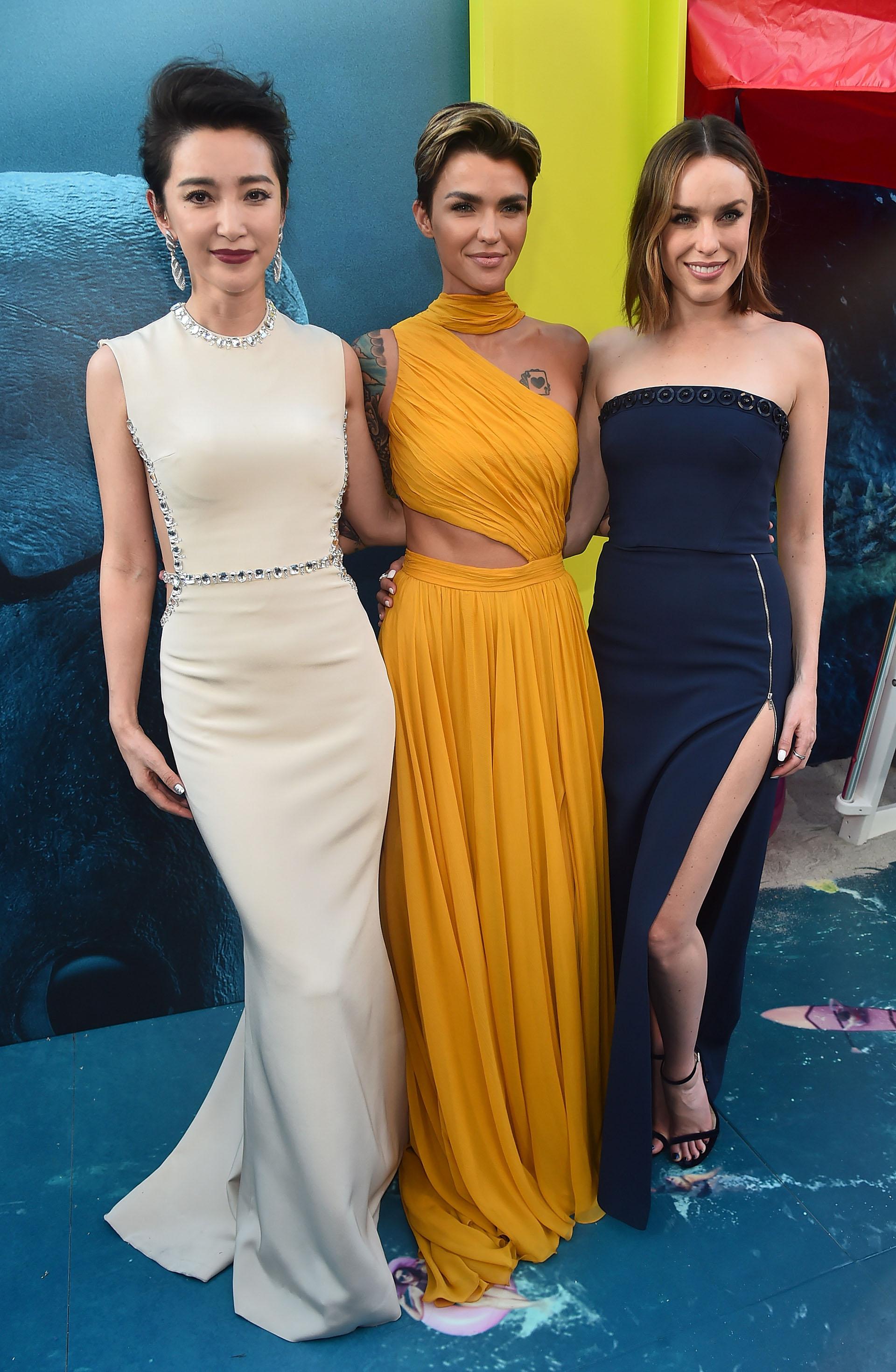 Li Bingbing, Ruby Rose y Jessica McNamee: las protagonistas femeninas de Megalodón que brillaron en la red carpet, en Hollywood