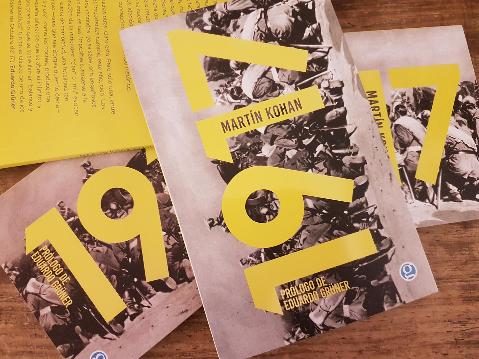 """1917"" de Martin Kohan (Ediciones Godot, 2017)"