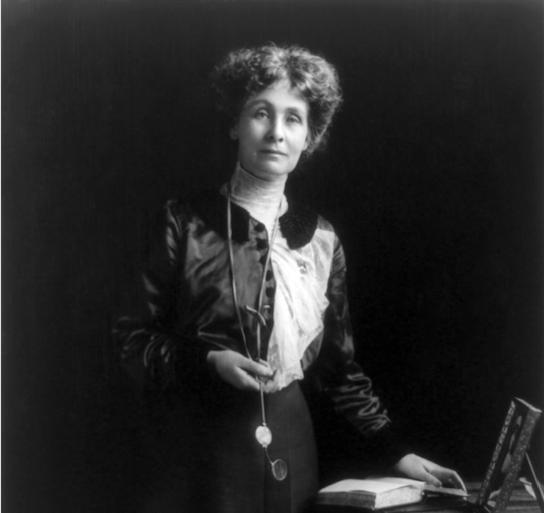 Emmeline Pankhurst, la famosa sufragista británica. (División de Impresiones y Fotografías de la Biblioteca del Congreso de los Estados Unidos)