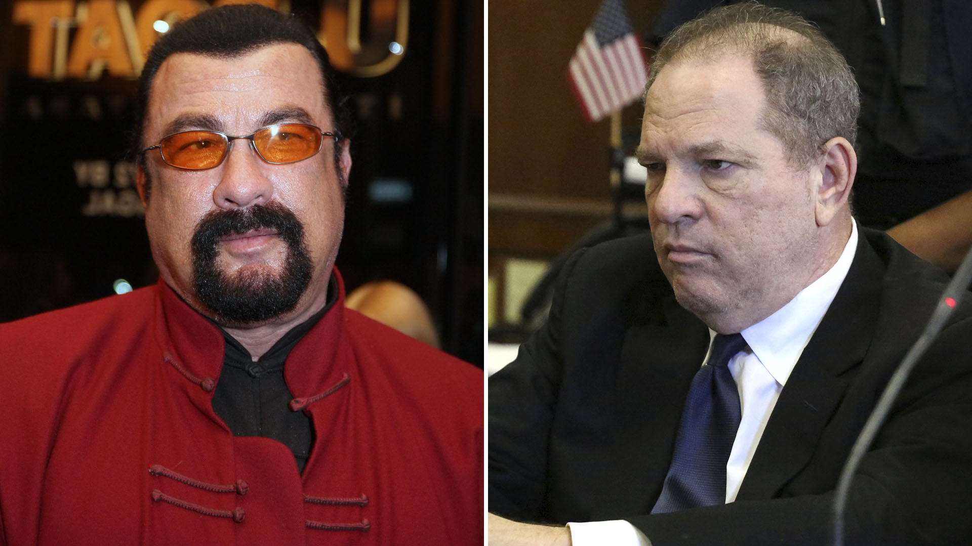 Steven Seagal y Harvey Weinstein