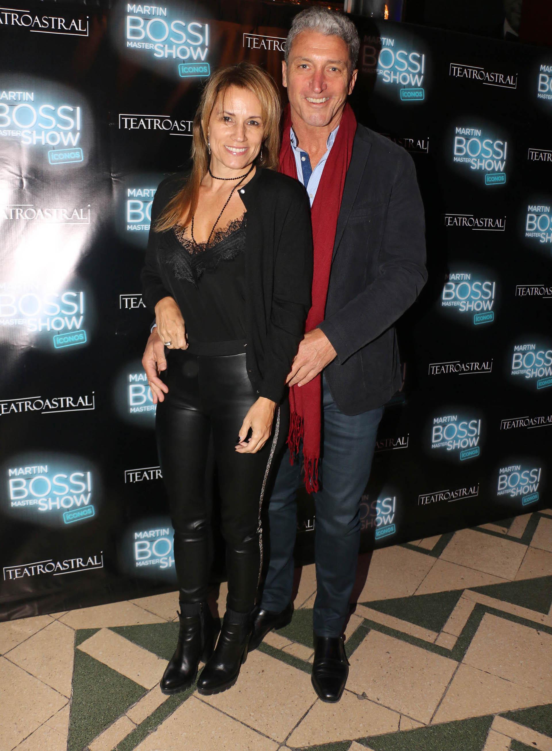 Pepe Scioli y su pareja