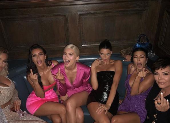 Familia Kardashian en el cumpleaños de Kylie Jenner (Instagram Kylie Jenner)