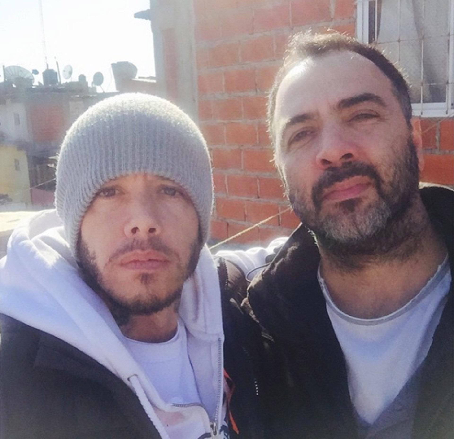 """Sebastián Ortega y Adrián Caetano, antes de grabar una escena de """"El Marginal"""""""