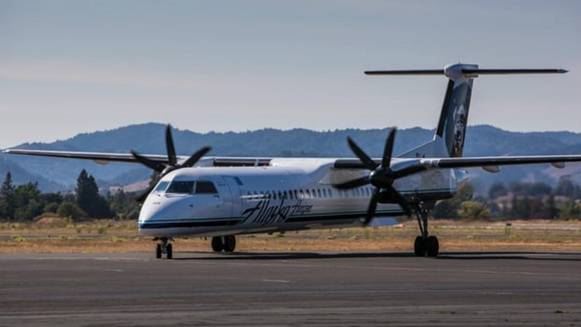 Avión de Alaska Airlines.