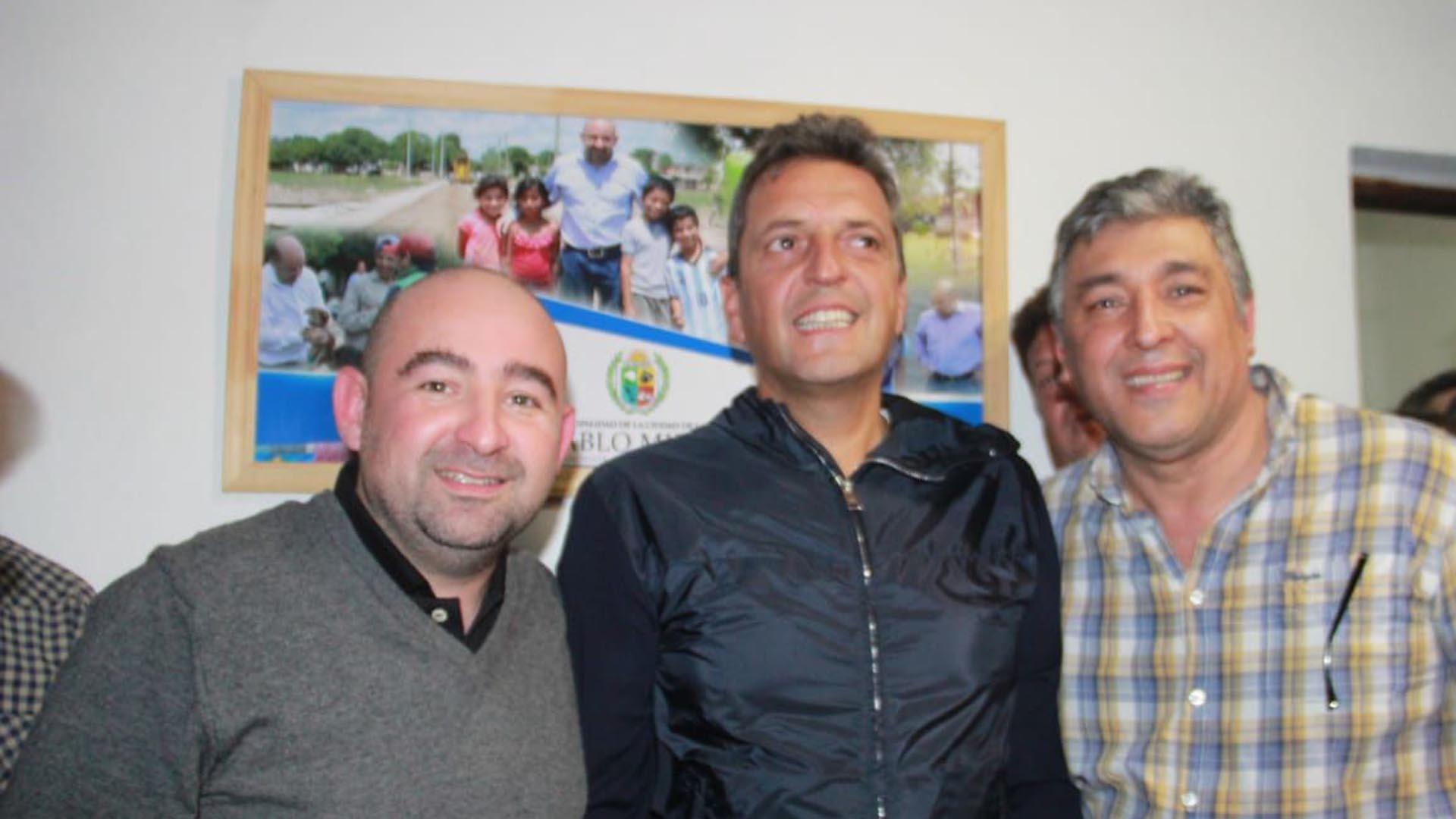 Pablo Mirolo junto a Sergio Massa