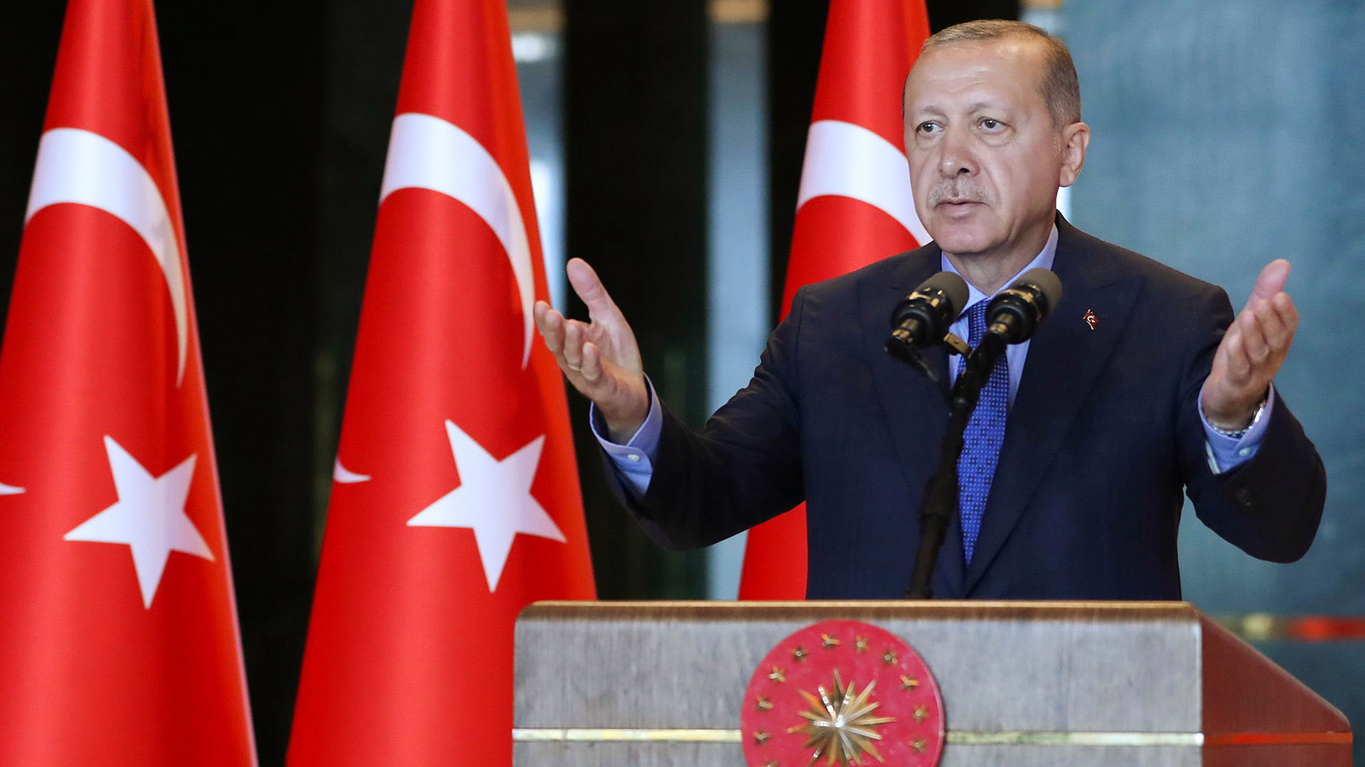 Erdogan, presidente de Turquía (AFP PHOTO / TURKISH PRESIDENTIAL PRESS SERVICE / KAYHAN OZER)