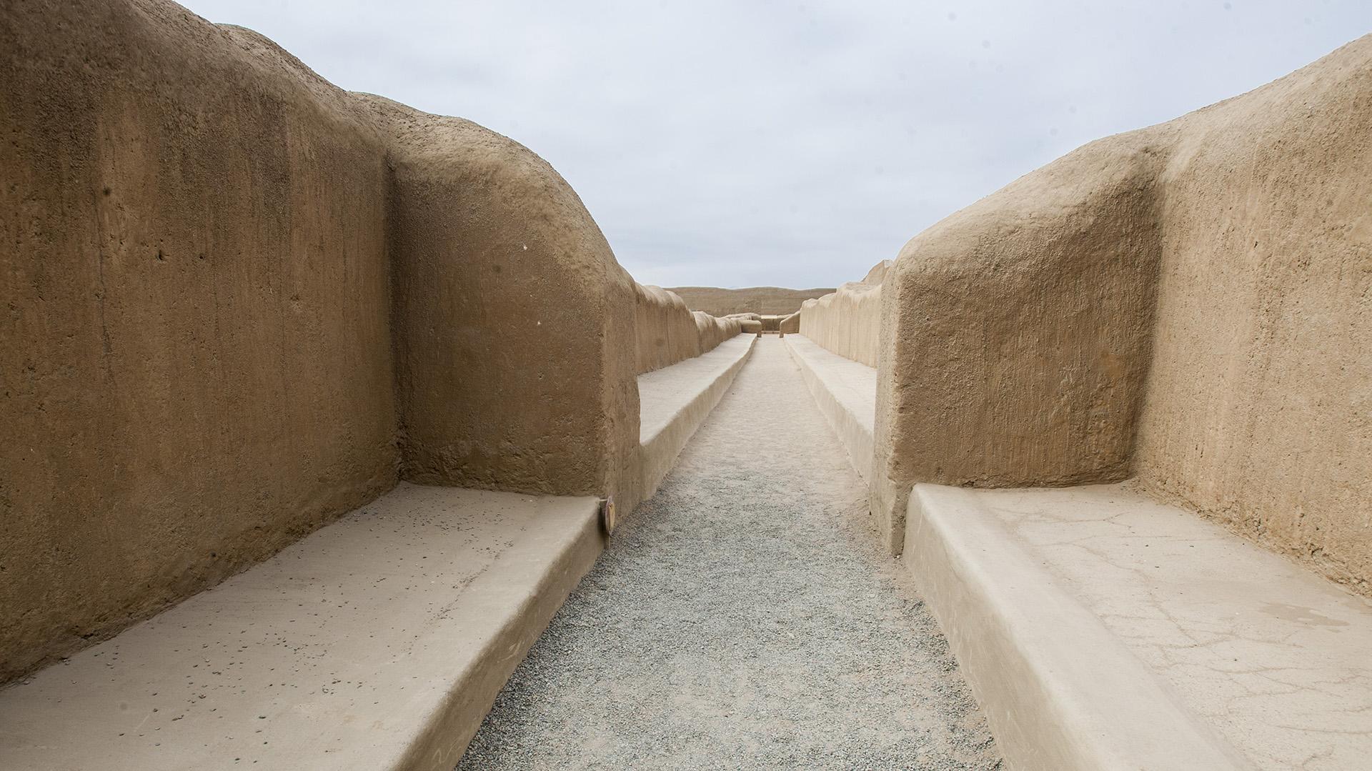 Muros de la pacífica ciudadela de Chan Chan