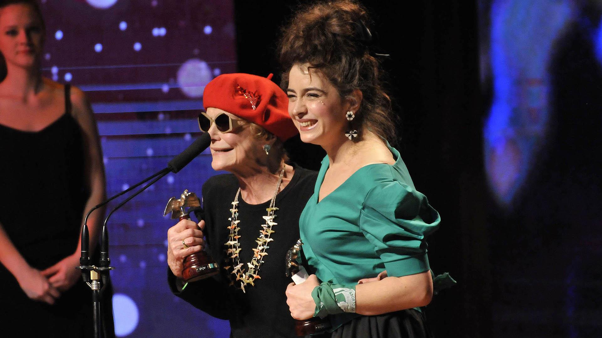 """Marilú Marini fue premiada por """"Los que aman, odian"""" y Érica Rivas por """"La cordillera"""". Las actrices compartieron la terna Actriz de Reparto"""