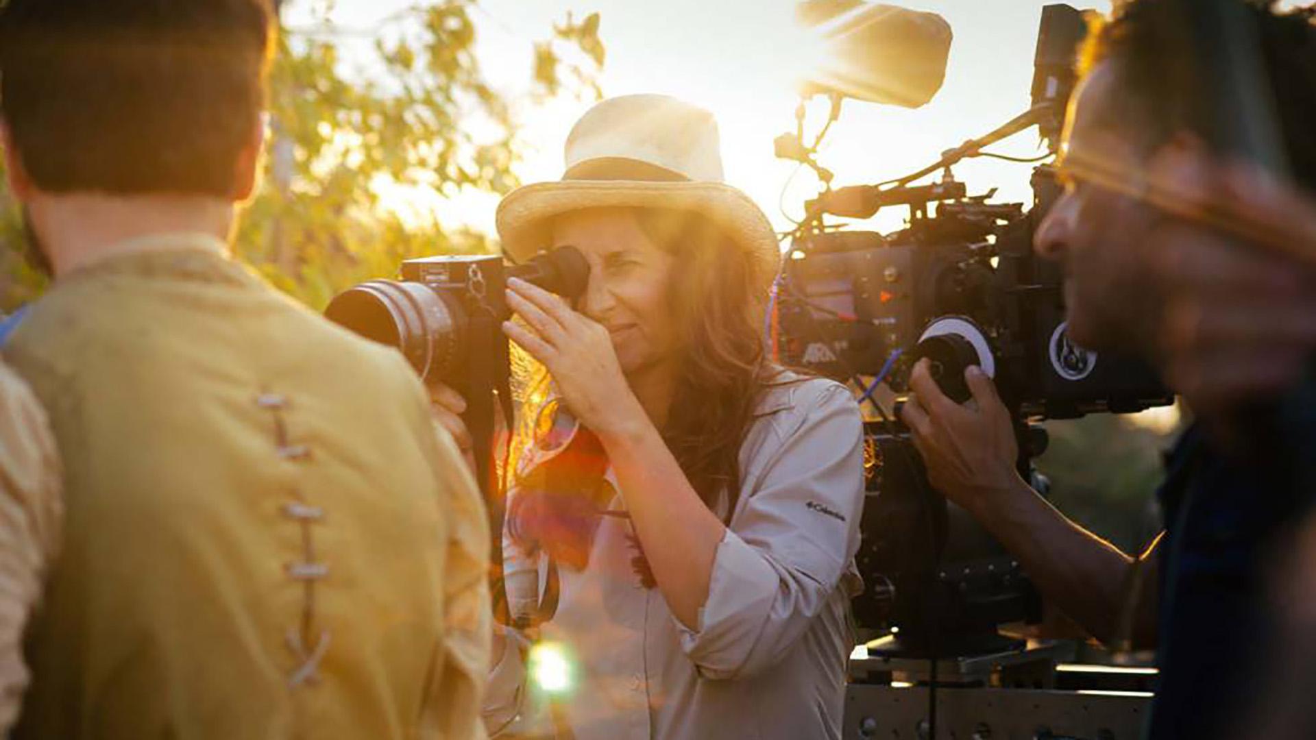 Lucrecia Martel durante la filmación de Zama.