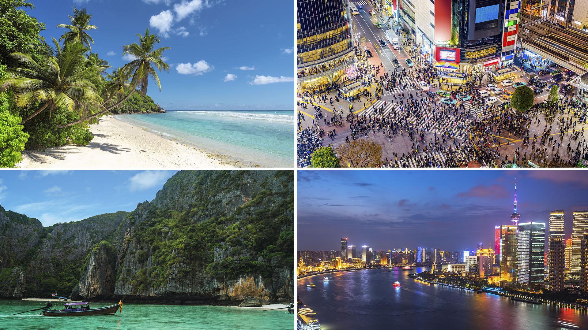 Desde playas paradisíacas hasta mega ciudades con características únicas en el mundo.