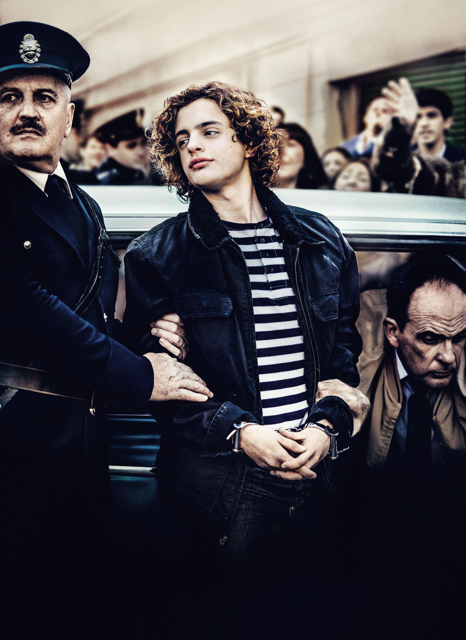 """Lorenzo Ferro, el actor que interpreta a Robledo Puch en la película """"El Ángel""""."""