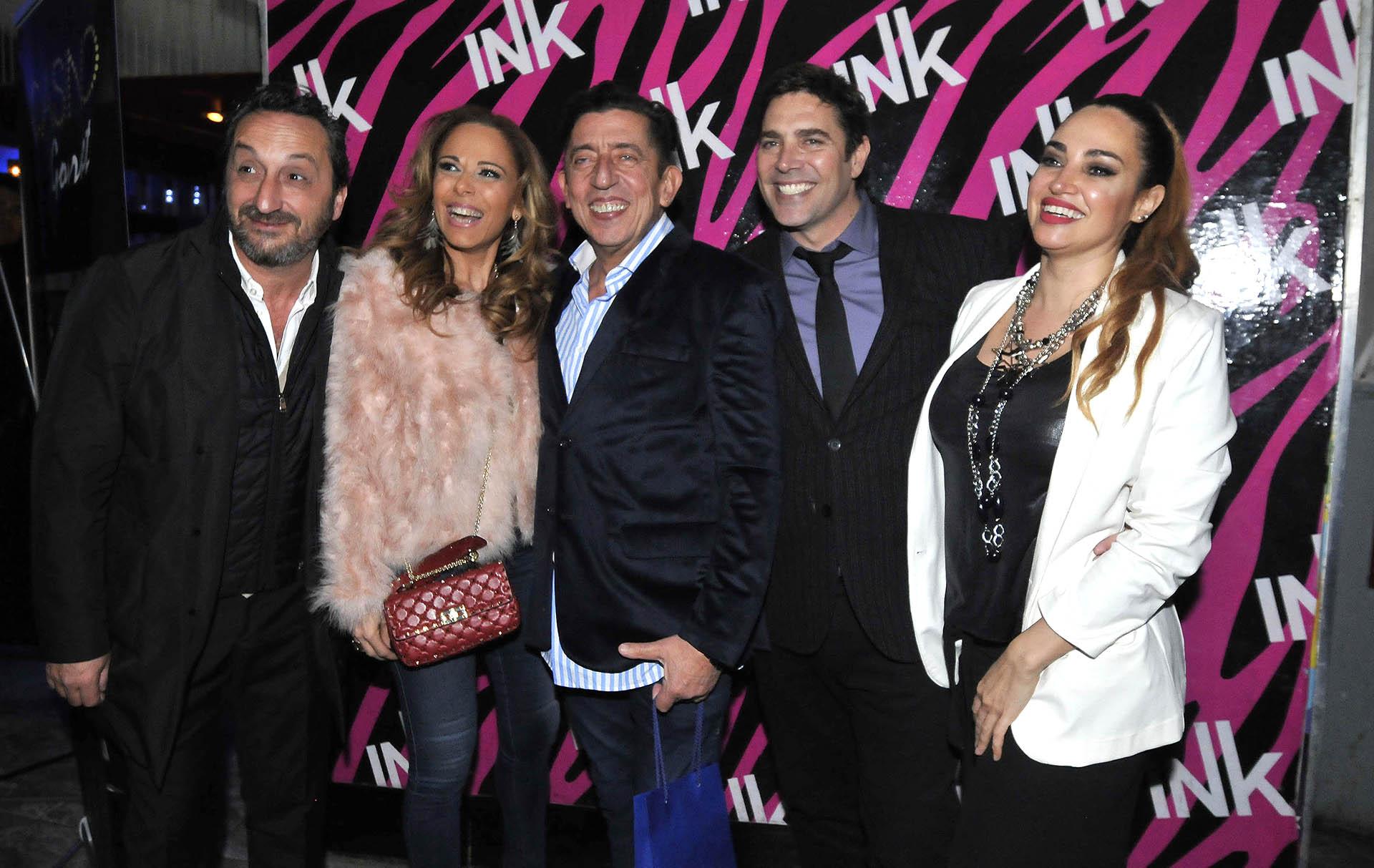Belén Francese, Matías Alé, Huevo Müller, Iliana Calabró y su pareja