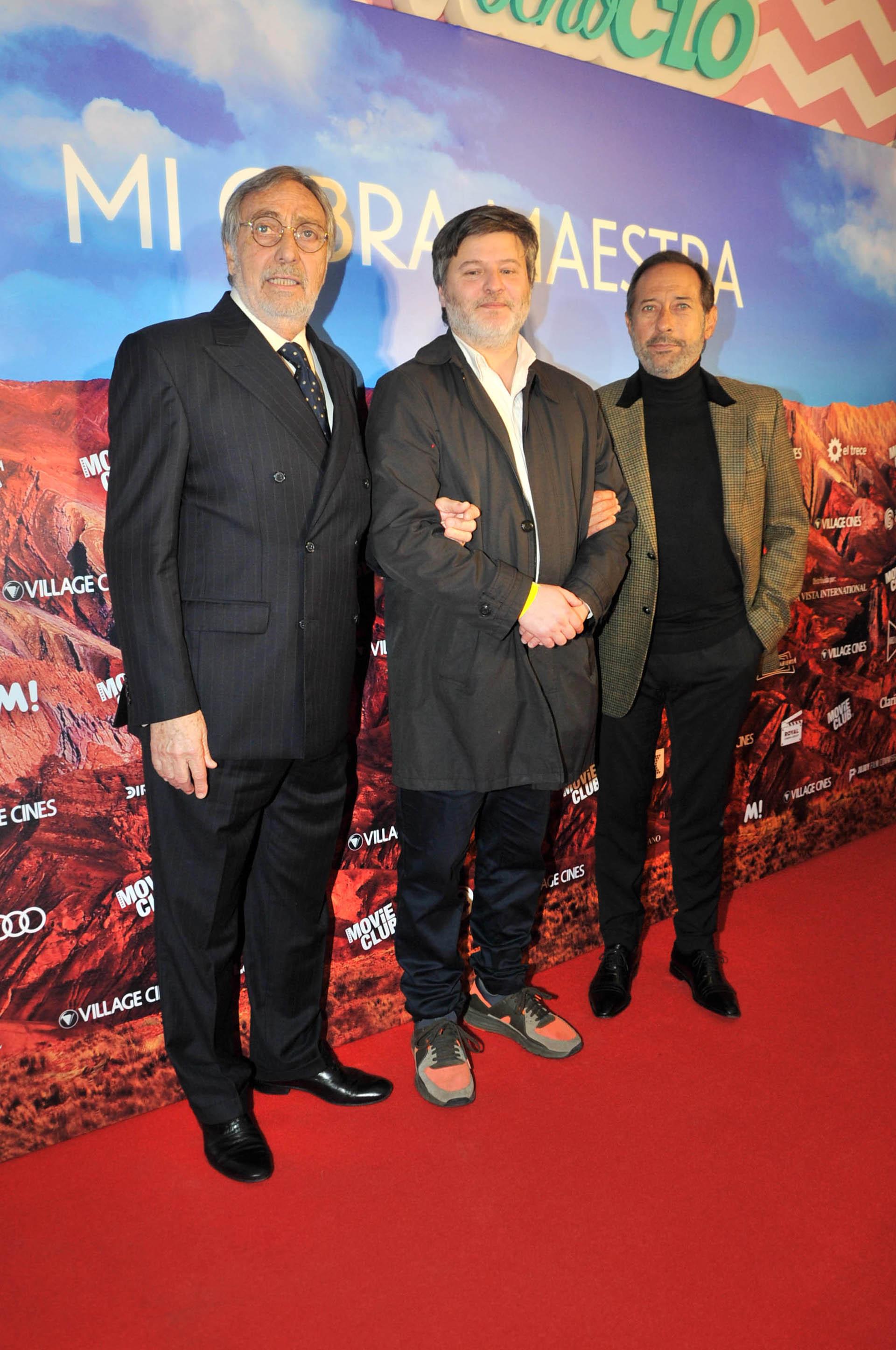 Luis Brandoni, Gastón Duprat y Guillermo Francella