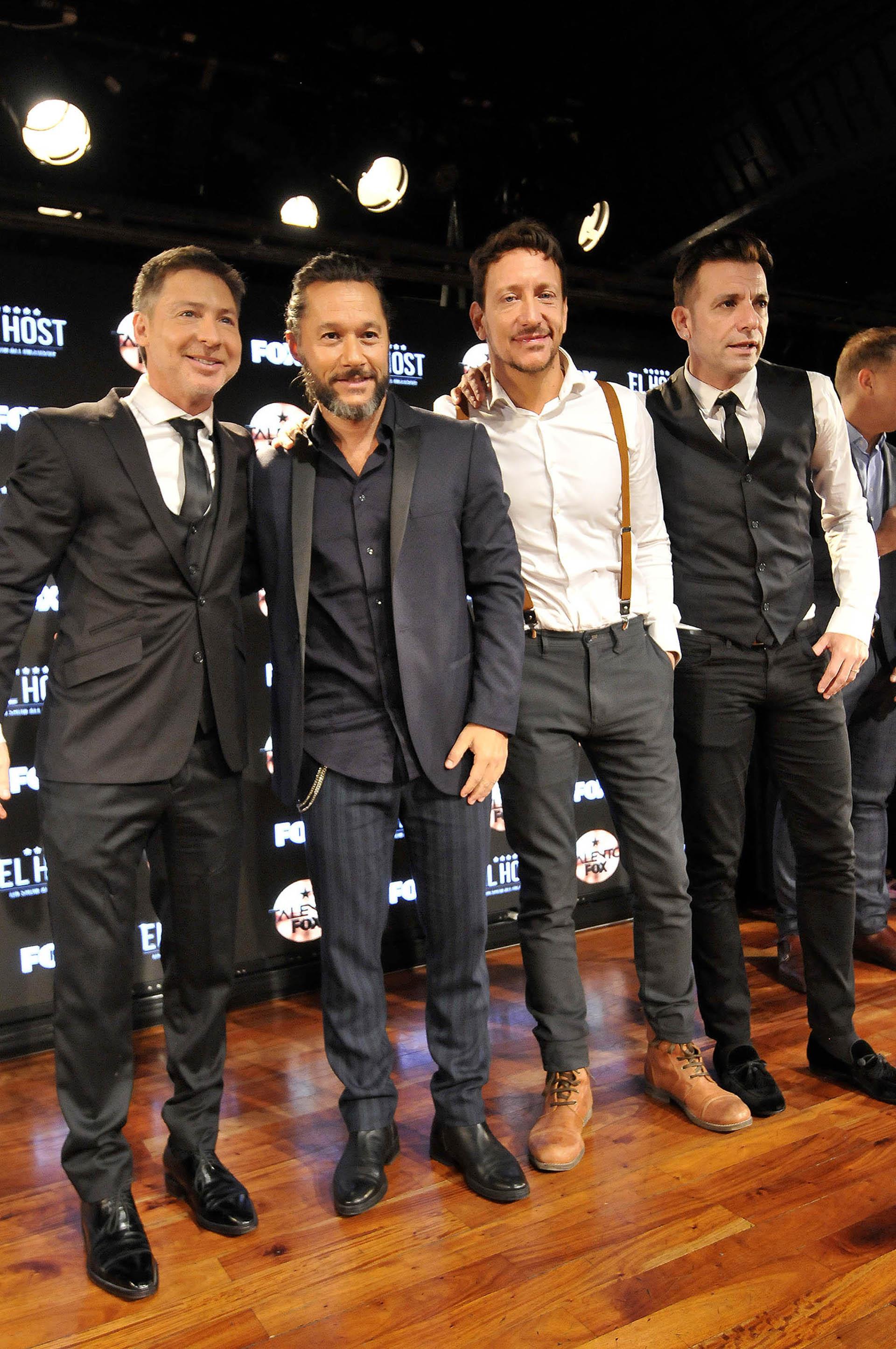 Adrián Suar, Diego Torres, Nico Vázquez y Martín Bossi