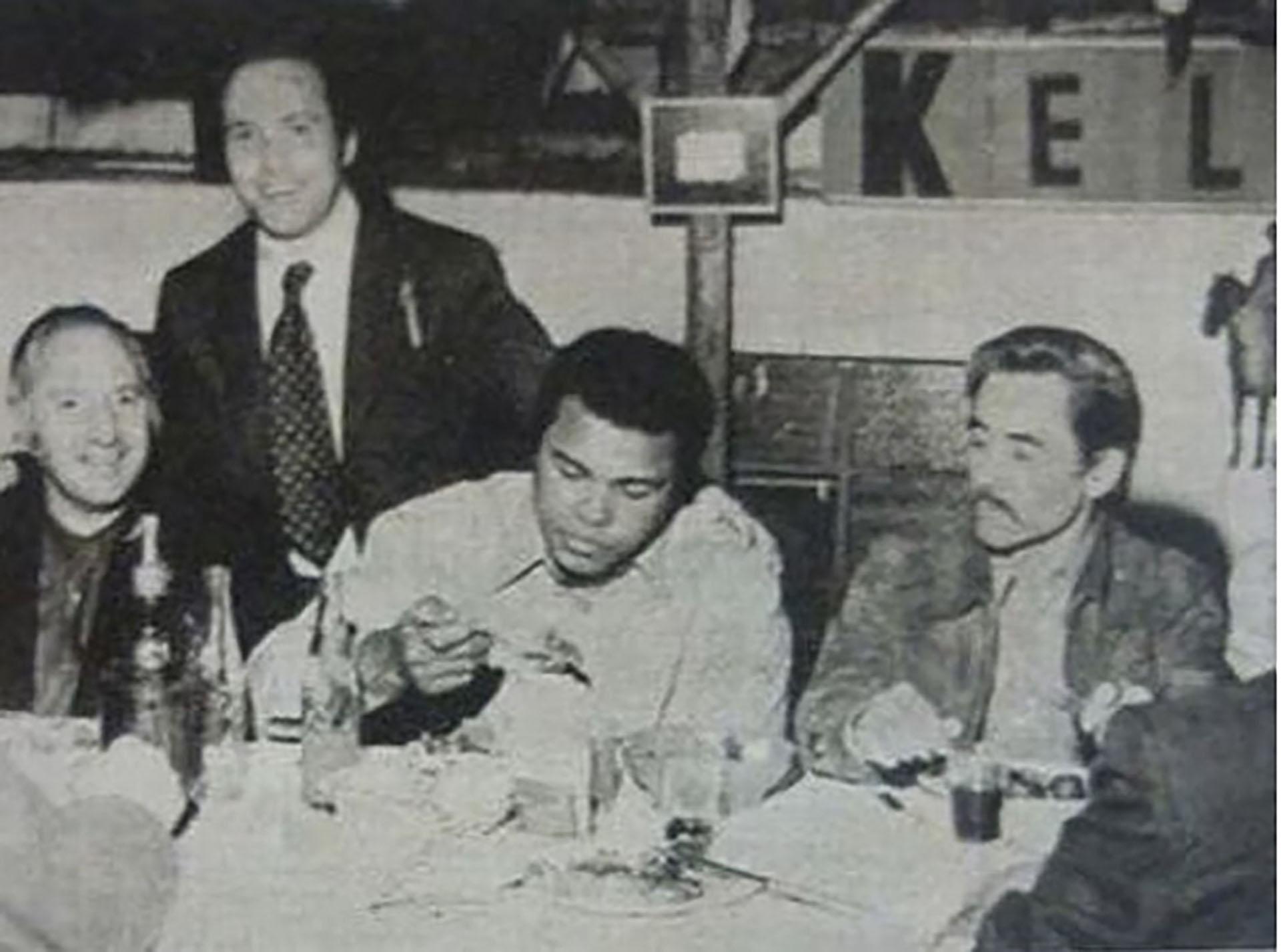 Lorenzo Miguel, Carlos Spadone, Muhammad Ali y José Ignacio Rucci