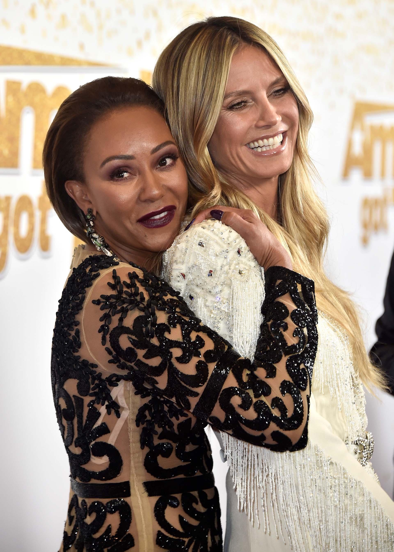 El abrazo entre Mel B y Heidi Klum