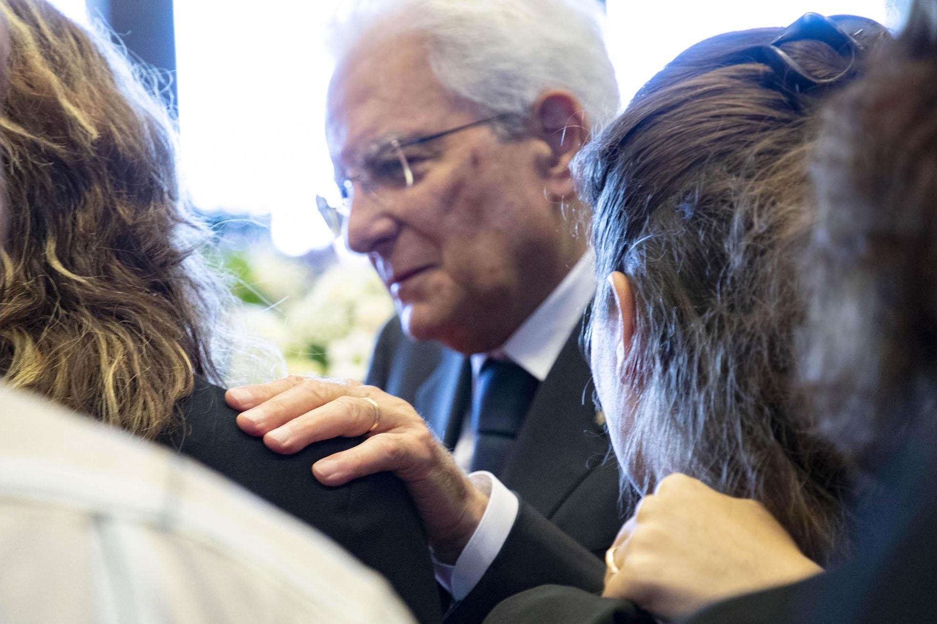 Mattarella escuchó a los familiares de las víctimas. EFE