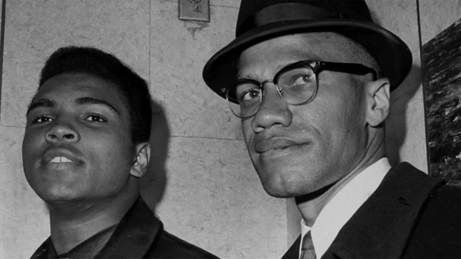 Cassius Clay junto a Malcolm X (Getty Images)