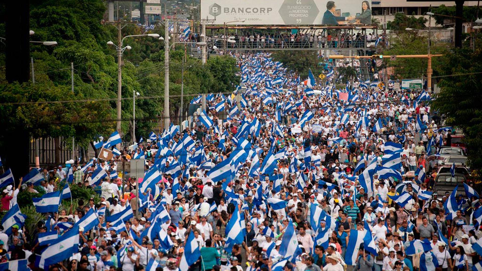 Miles de personas se movilizaron en los últimos meses en Nicaragua
