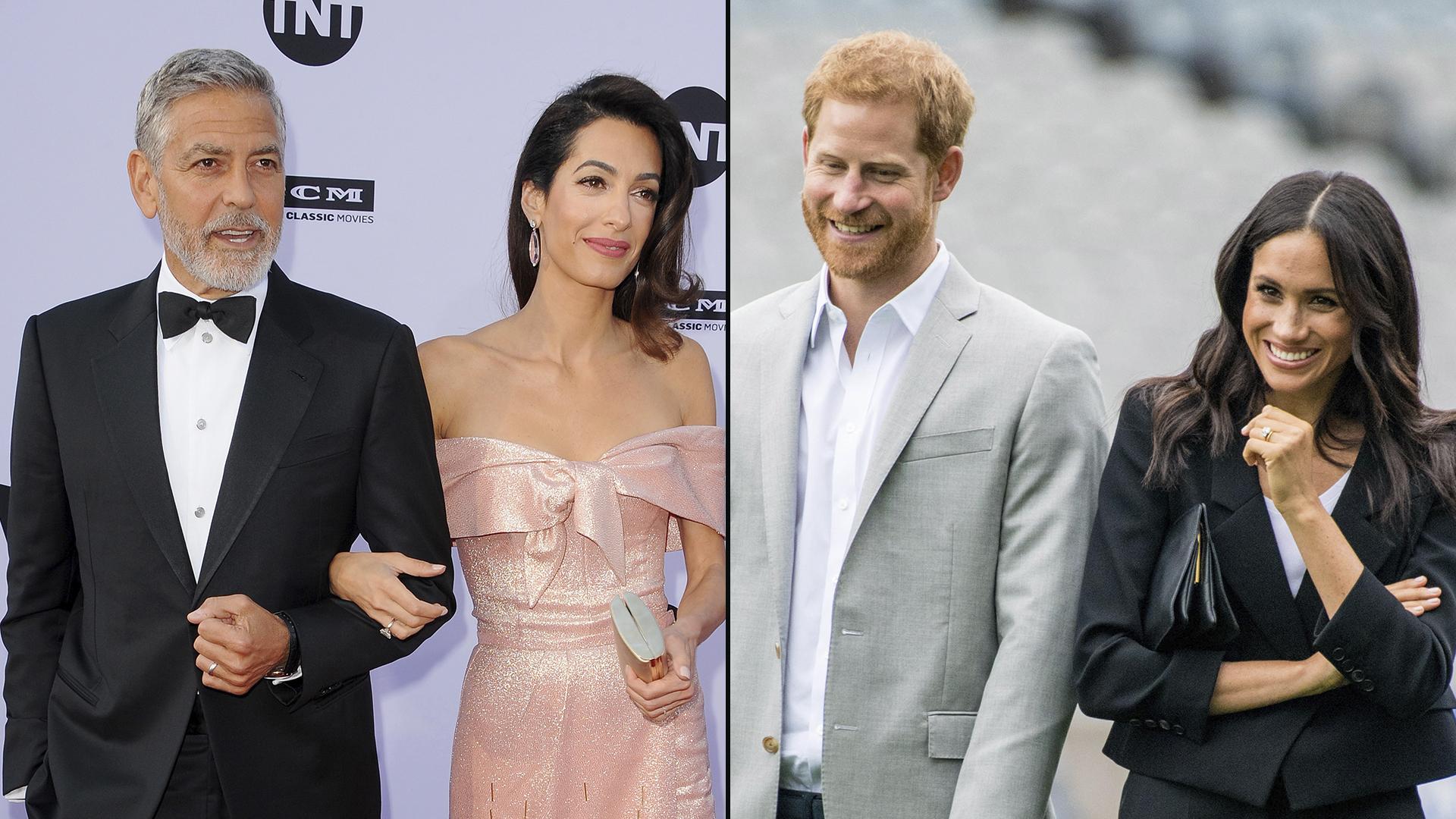 Los Clooney fueron sólo dos de los 600 invitados de la boda de los duques de Sussex en mayo pasado