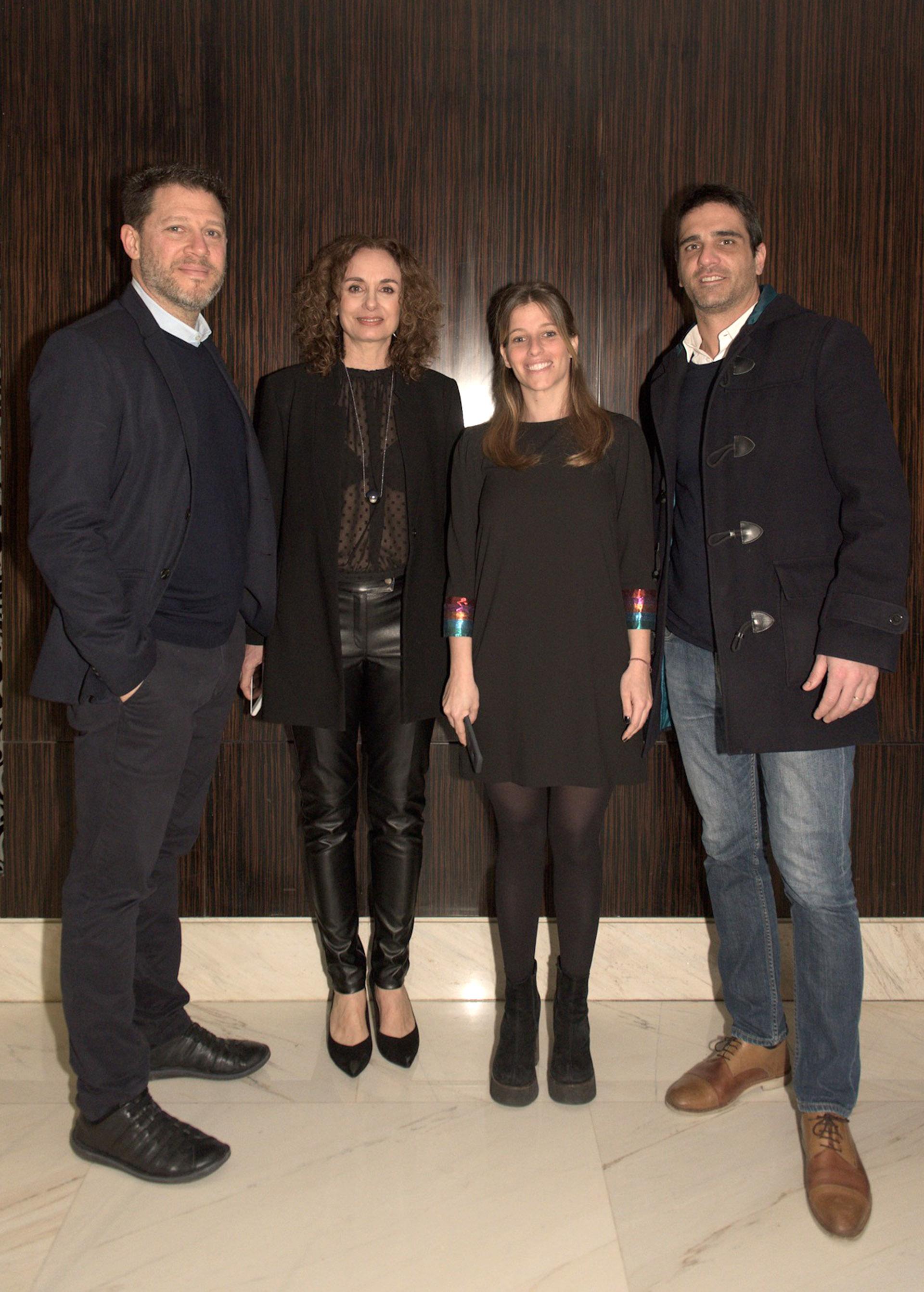 Damián Kirzner, Gabi López junto a Priscila Pipman y Silvio Tourón, gerentes comerciales de Infobae.