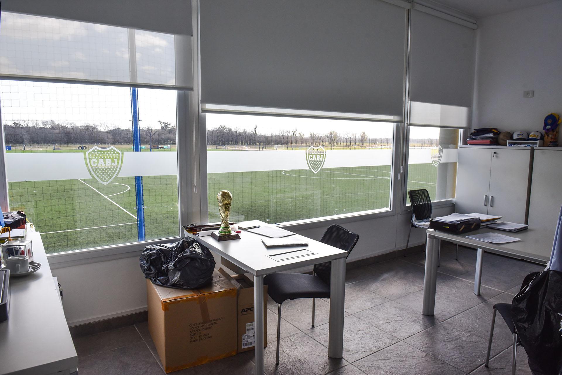 La Reserva, las categorías de la Cuarta hasta la Novena y las infantiles trabajan en el centro de entrenamiento de Ezeiza (Guille Llamos)