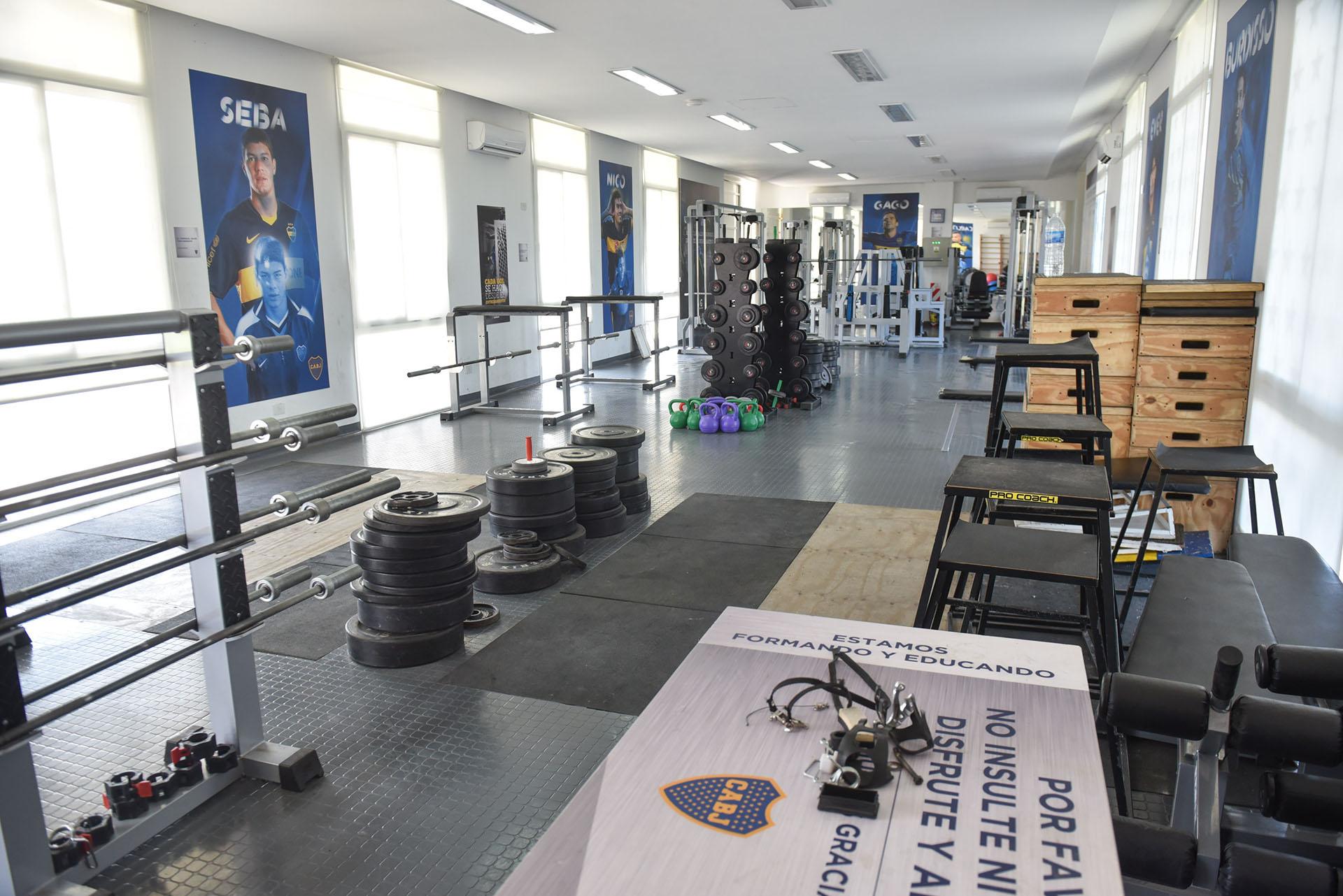 El gimnasio es una de las áreas más utilizadas semana a semana por los chicos (Guille Llamos)