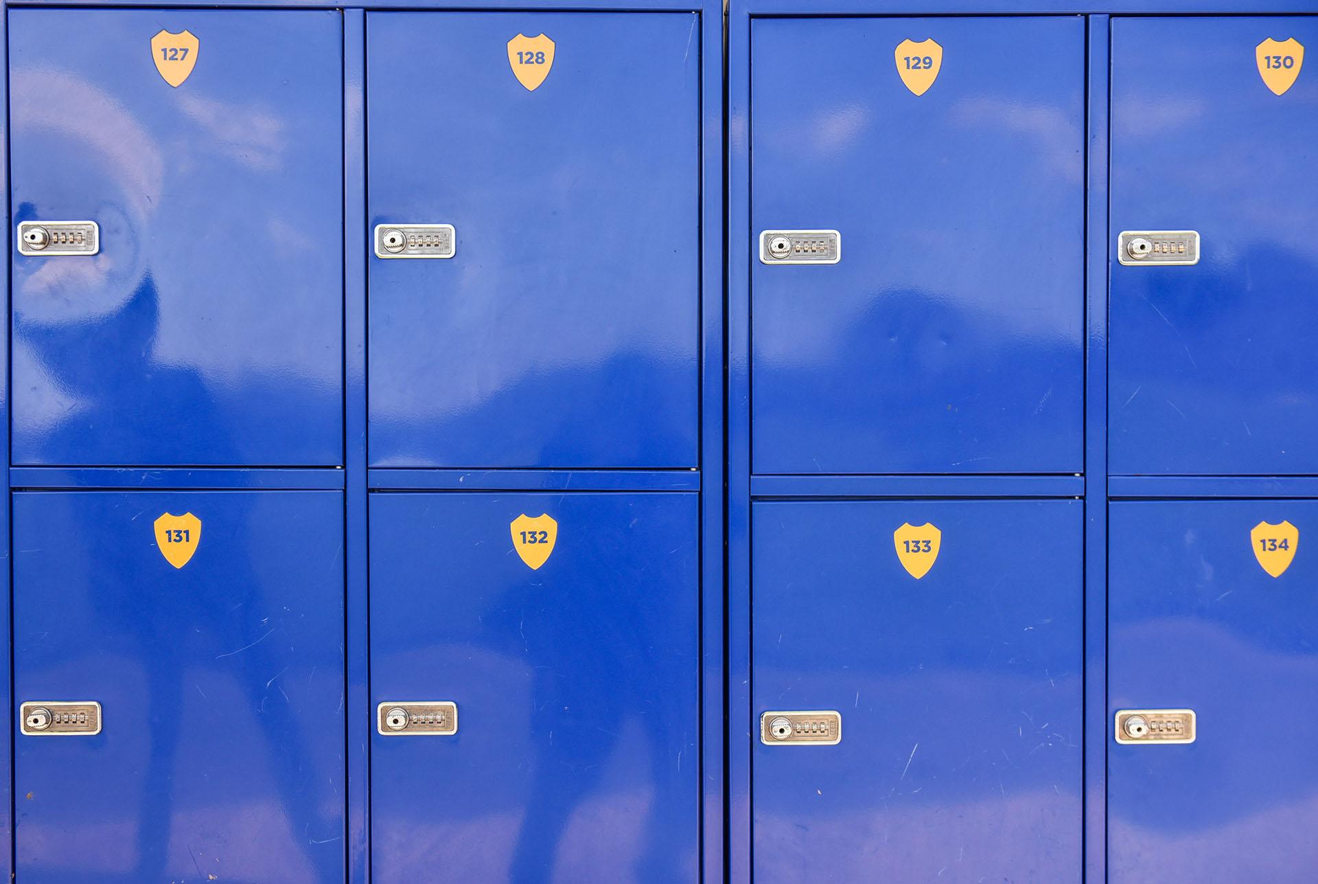 Cada uno de los lockers tienen clave de seguridad (Guille Llamos)