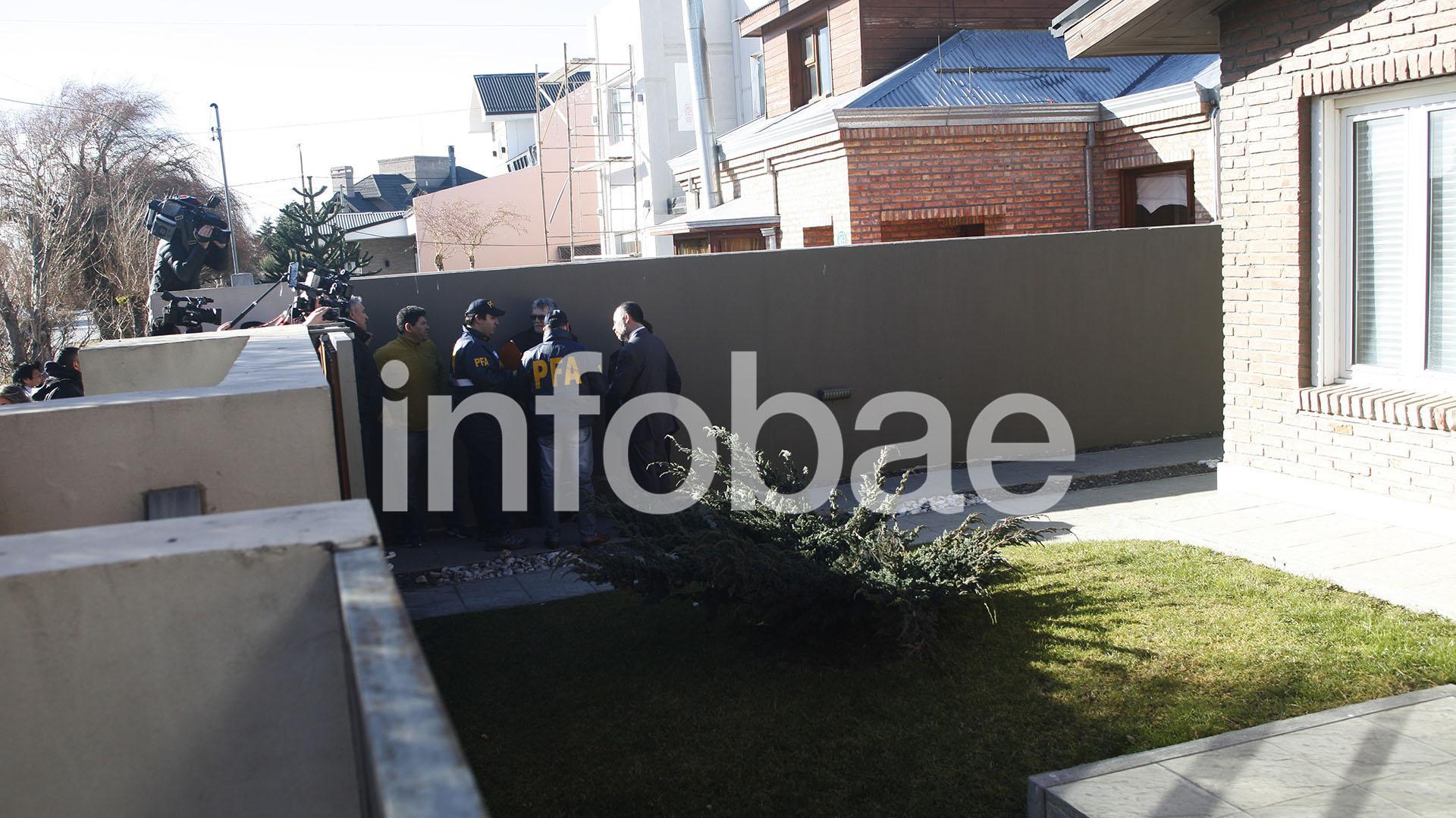 La casa de la ex presidente en Río Gallegos (foto Walter Díaz)