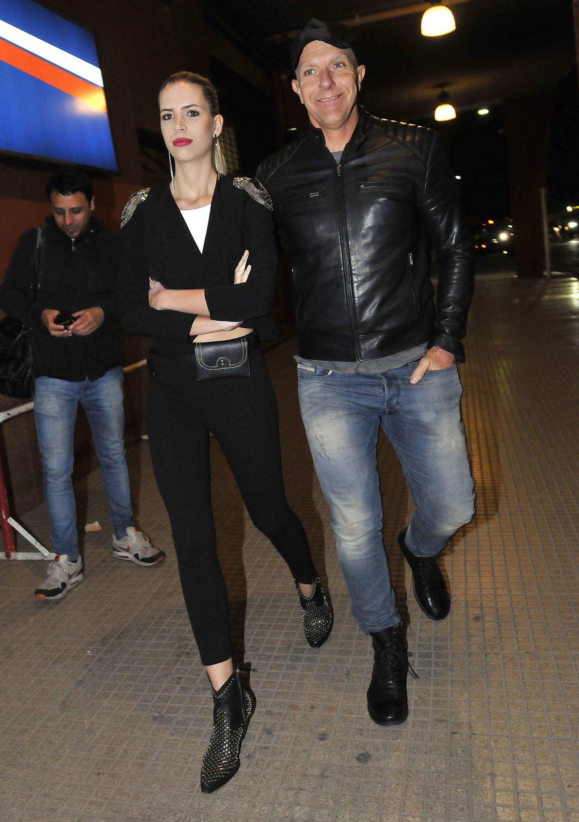 """Alejandro Fantino y su novia Coni Mosqueira. El conductor trabaja con Lali en el programa """"Talento Fox"""""""