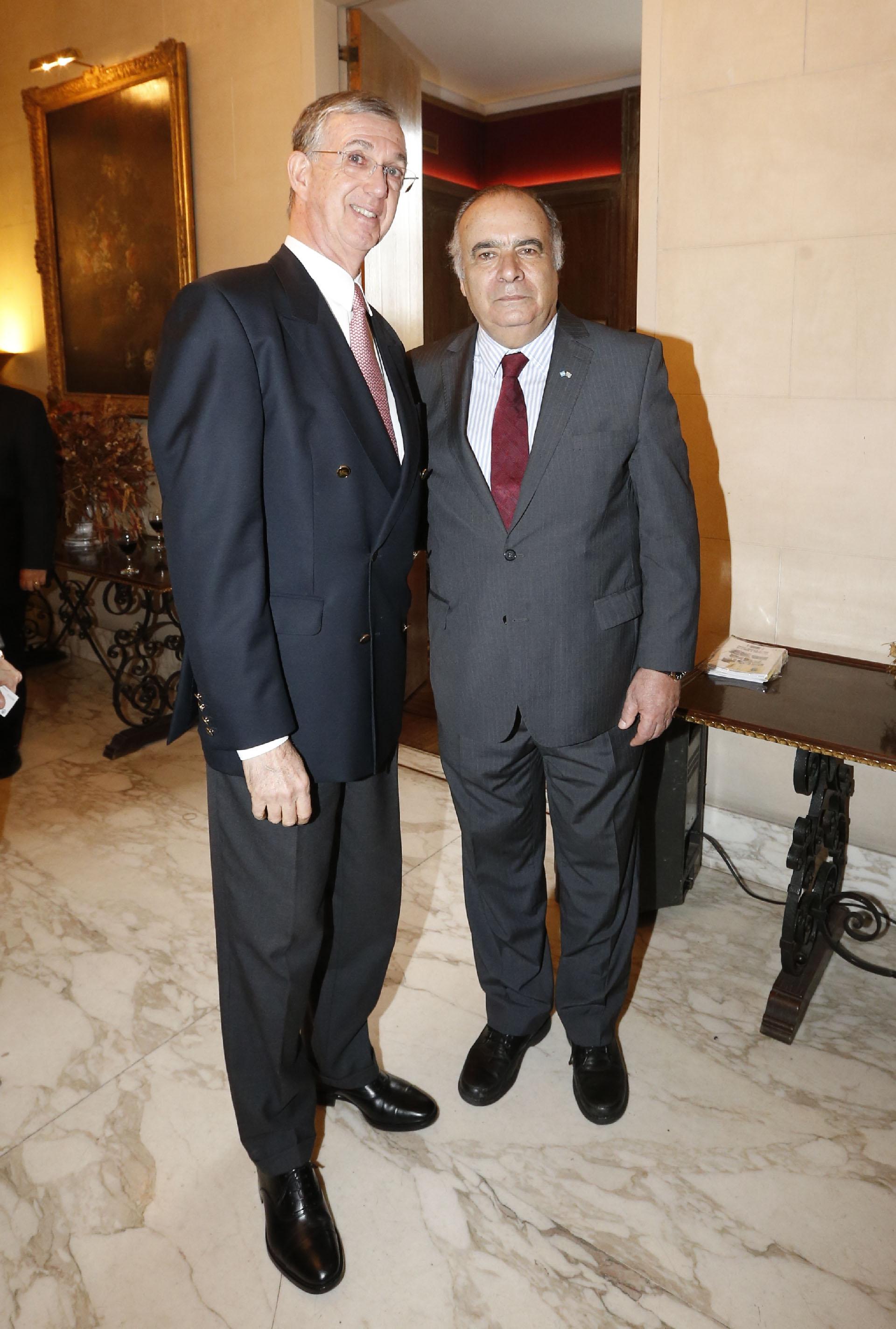 Sérgio França Danese, embajador de Brasil en la Argentina, junto al embajador Héctor Lescano Fraschini