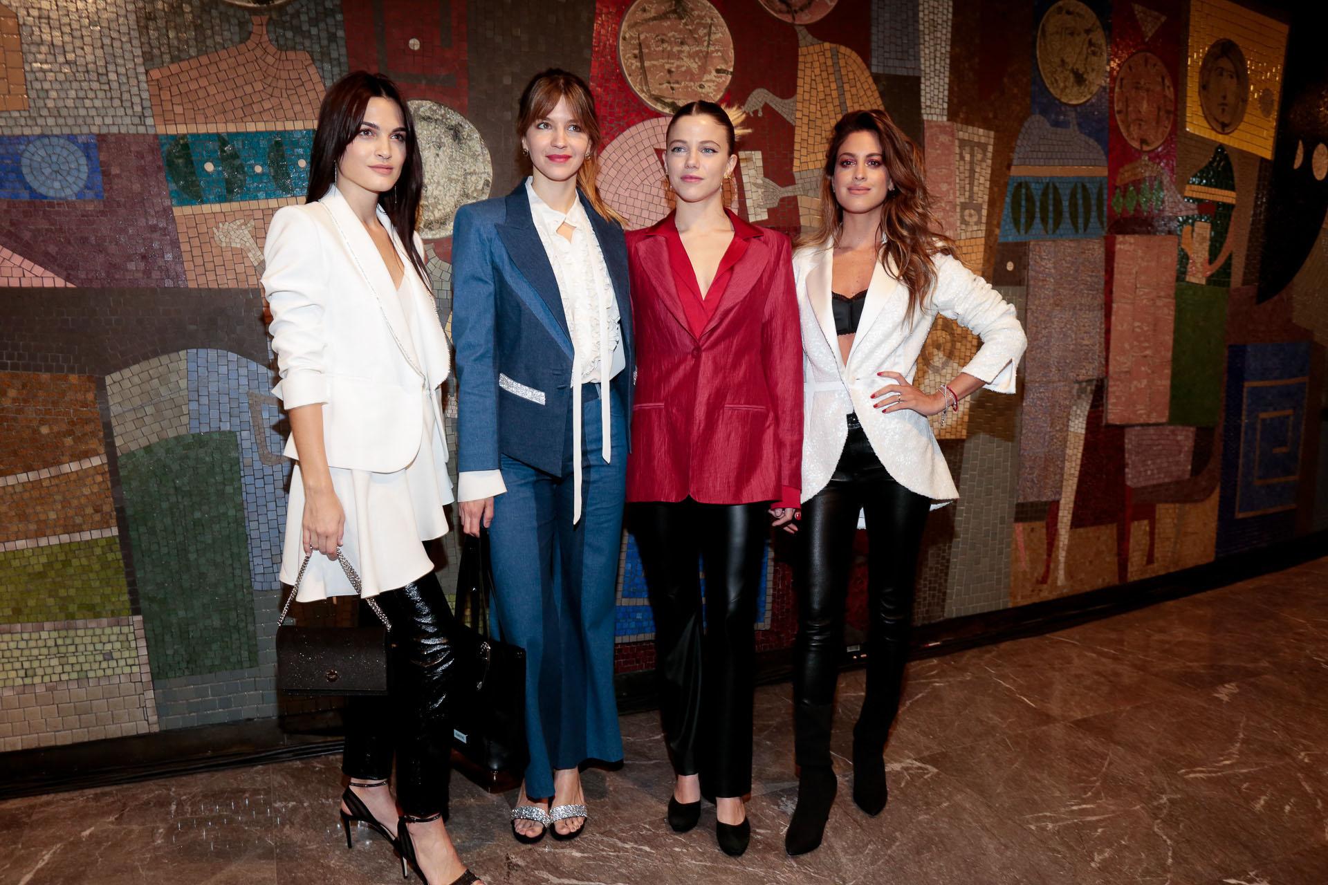 Carla Moure, Marcela Kloosterboer, Justina Bustos y Agustina Casanova