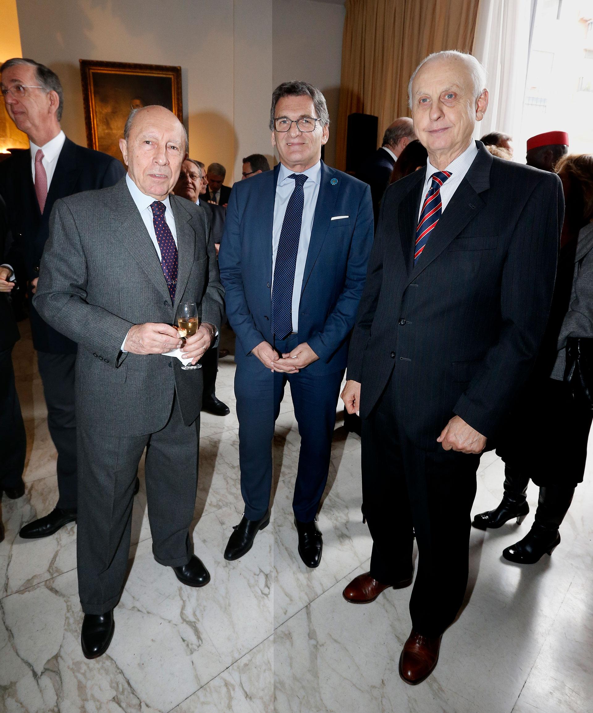 El empresario Carlos Spadone y el secretario de Derechos Humanos y Pluralismo Cultural, Claudio Avruj