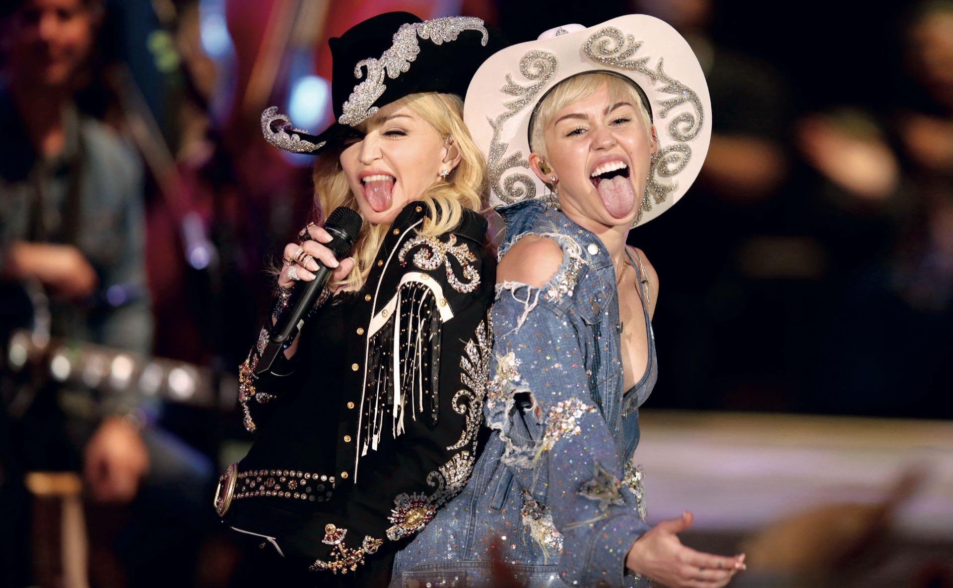 Madonna junto a Miley Cyrus.