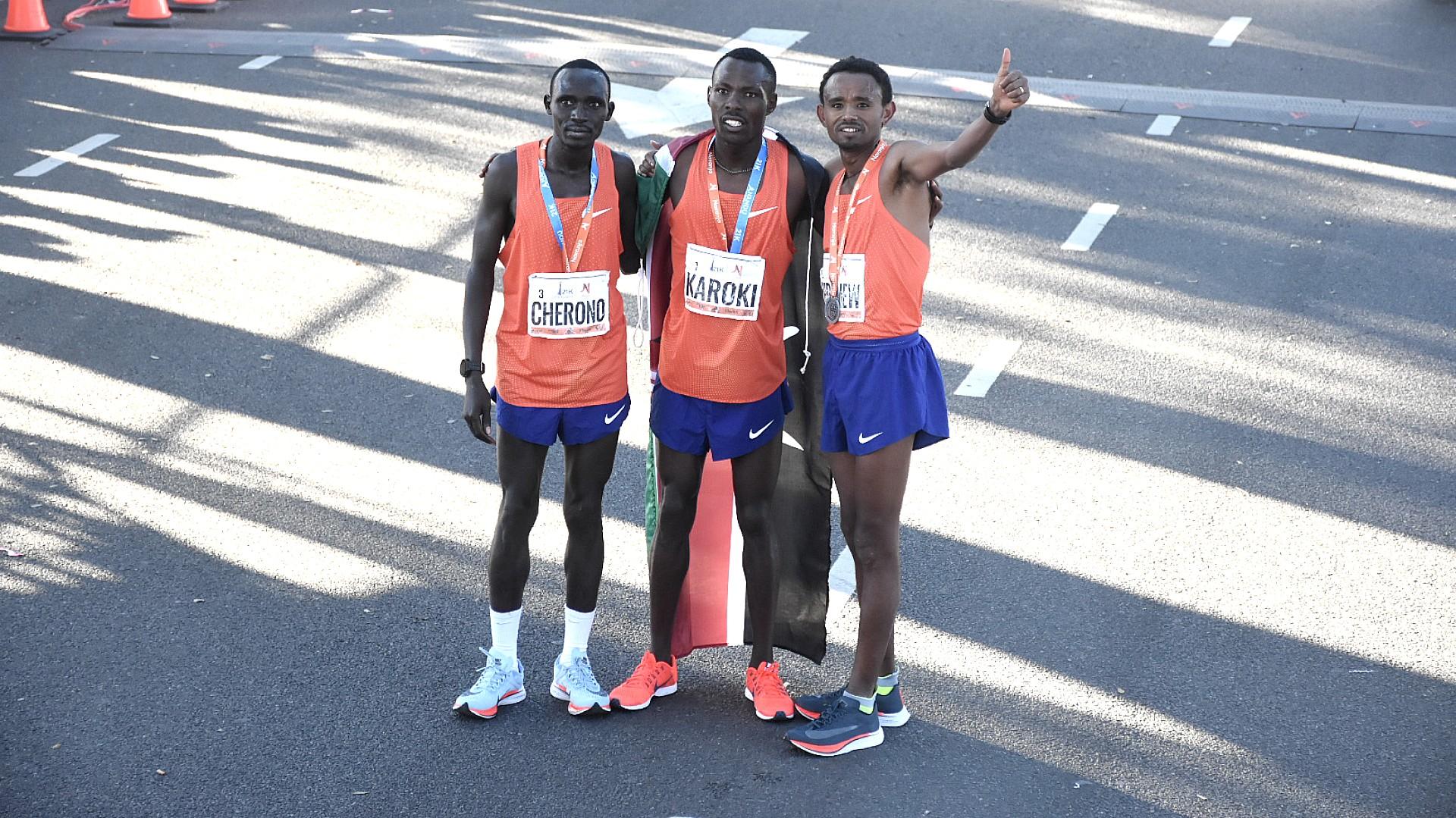 Geremew, con 59 minutos 48 segundos, es el ganador de la media maratón, una marca sin precedentes en el país. Bedan Karoki llega en segundo lugar con 59:49 y Lawrence Cherono en tercero con 1.01.57